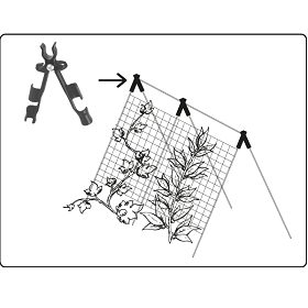 Plantestøtte/Blosterpinne Justérbar