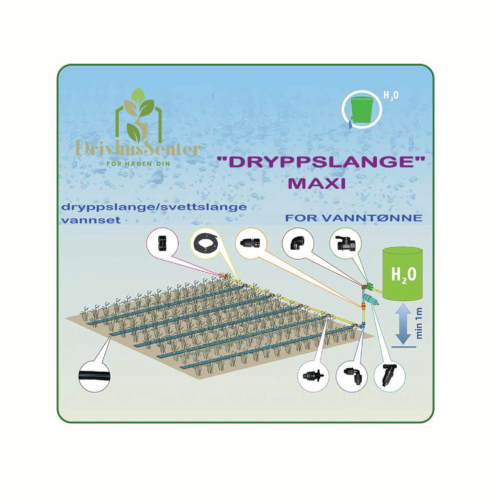 svetteslange system dryppslange maxi for vanntønne